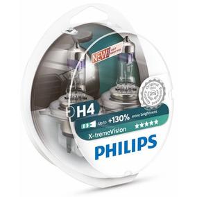 Kit Nova Philips X-treme Vision H4 55/60w 130%+luz