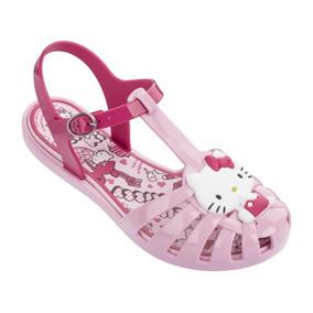 Sandália Infantil Feminina Hello Kitty Rosa