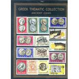 Set Estampillas Grecia Tema Monedas Antiguas