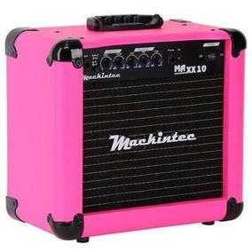 Cubo Amplificador Guitarra Mackintec Maxx10 15w Rosa Pink