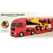 Caminhão Diamond Truck Carregadeira Brinquedo De Menino Roma