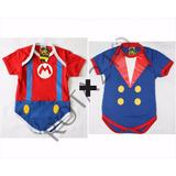 Kit Body Bebê 2 Peças Mario + Pequeno Principe