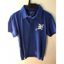 Camisa Polo Ed Hardy Azul Christian Audigier Masculina