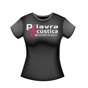 Camisa Personalizada Palavra Acústica