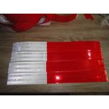 Cinta Reflectiva Auto Adhesiva En Laminas Rojo-blanco 3m