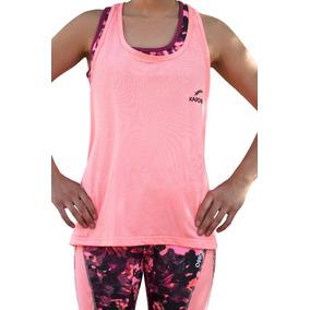 Top Largo Deportivo Karosso Rosa Para Mujer