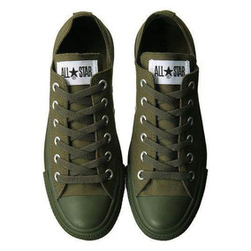 converse mujer verde militar