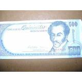 Billete 500 Bolívares Año 1998