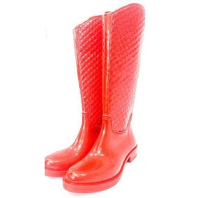 Botas De Lluvia Mujer Rojo Total !!!! Unicas !