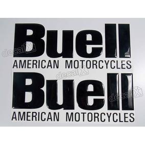 Emblema Adesivo Resinado Buell American Motocycle Preto