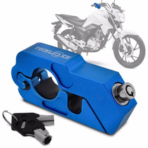 Trava Manete Moto De Punho Teck Lock Anti Furto Azul