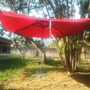Sombrilla Cuadrada Grande Lona Gruesa Impermeable 9.60m2