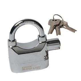 Cadeado Com Alarme 110db Kinbar - Prata - Pronta Entrega