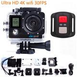 4k Sports Cam Deportiva Dual Lcd Full Hd 1080p Waterproof 30