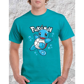 Camisa Camiseta Desenho Pokémon Pikachu Bulbassauro Squirtle