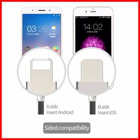 Cable De Datos Usb Para Samsung Y Iphone 2 En 1 Micro Usb