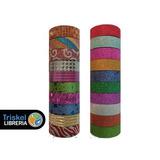Cinta Adhesiva Decorativa Washi Tape Glitter X 20 Rollos