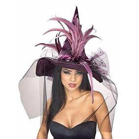 Sombrero Disfraz Bruja/catrina Ideal Halloween, Día Muertos.