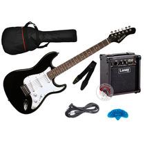Combo Guitarra Electrica Stratocaster Amplificador Laney