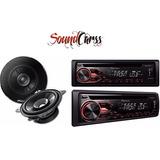 Combo Pioneer Stereo Deh1850+tsg1015 Parlantes 4 Pulgadas