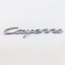 Emblema Adesivo Cromado Porshe Cayenne - Emblema Traseiro
