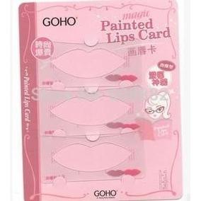 Magic Painted Lips Card - Molde Lábios Silicone P/ Batom.