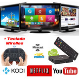 Smart Tv Box Quad-core Wi-fi Android 6.0 Hdmi 4k + Teclado