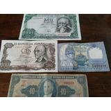 Billetes Antiguos,lote De Cuatro.