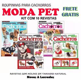10 Revistas Moda Pet Roupa Cachorro Caes Molde Frete Gratis