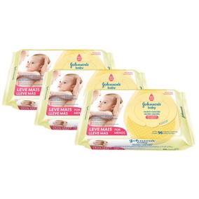 Kit Lenços Umedecidos Johnsons Baby Com 288 Unidades