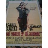 Isabel Sarli Afiche El Sexo Y El Amor (1974)
