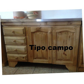 Muebles De Cocina De Pino Madera - Muebles de Cocina en Mercado ...