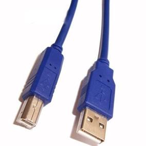 Cable Usb 2.0 Azul Para Impresora Modem Pc Red Fotocopiadora