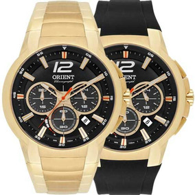 Relógio Orient Masculino Cronograph Troca Pulseiras Mgssc017