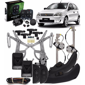 Kit Vidro Elétrico Corsa Sedan Hatch 4pts C Trava + Alarme
