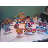 Circo Cenário De Mesa,10 Display,festa Infantil,mdf