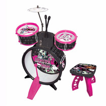 Bateria Infantil Monster High Completa Original Fun