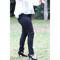 Calça Feminina Legging Sarja Preta Plus Size 44 Ao 60 - 1519