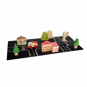 Brinquedo De Madeira Coleção Cidade Bombeiro Art Yara