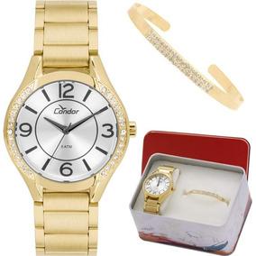 Kit Relógio Condor Feminino Com Pulseira Co2035krg/k4k