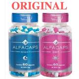 Alfacaps Kit 1 Frasco Dia E 1 Frasco Noite Pronta Entrega