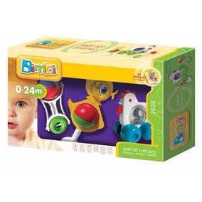 Bimbi Baby Set 3 En 1: Sonajero, Mordillo Y Arrastre.