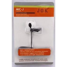Microfono Lavalier Jk Mic-j 044 Para Sistema Inalambrico Pro