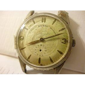 Reloj Bermi 15j Swiss Raro Cuadrante Con Barco Texturado Ver