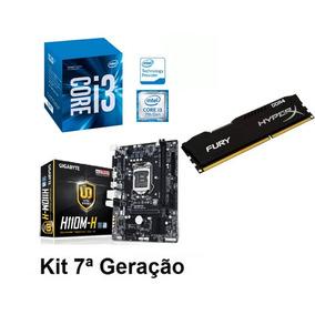 Kit 7 Geração Placa Mãe H110m H + I3 7100 + Ddr4 4gb Ram