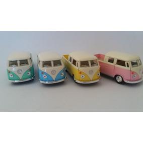 Coleção Volkswagen Bus Kombi Miniaturas Com 04 Unidades