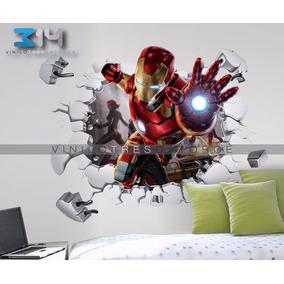 Vinilo Decorativo 3d, Avengers I32 Iron Man, Sticker