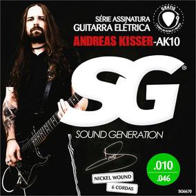Jogo De Cordas 010 Sg Andreas Kisser Para Guitarra 6670 Ak10