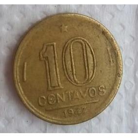 Moeda 10 Centavos 1947 José Bonifácio