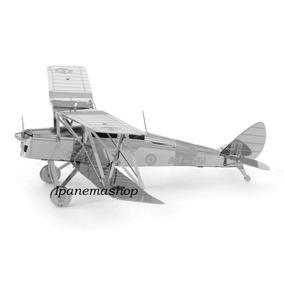 Mini Quebra Cabeça 3d De Metal - Avião - De Havilland Tiger